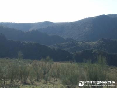 Panorámica ascendiendo- Senda Genaro GR300 - gente viajera; alta montaña; viajes navidad